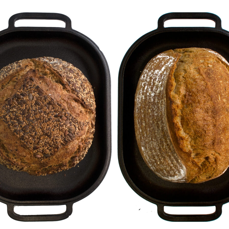 Challenger Bread Pan with bread