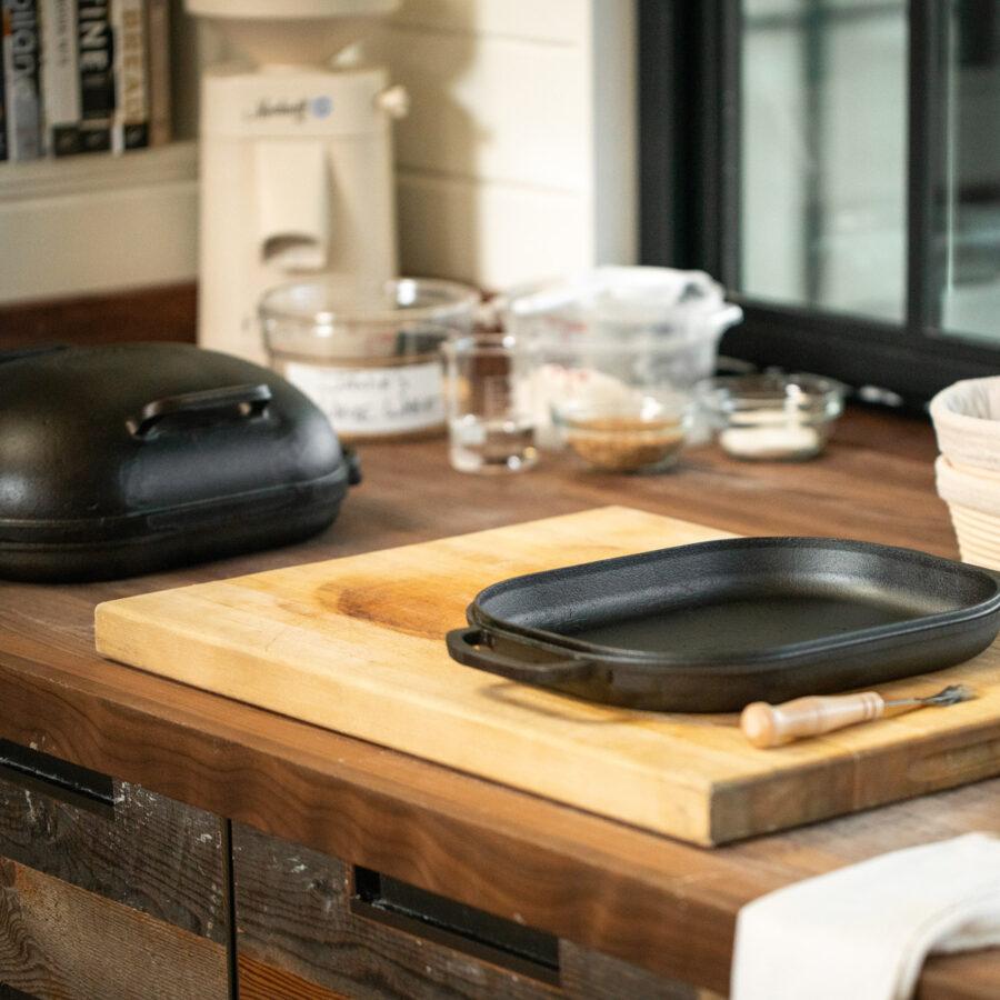 Challenger bread pan in a kitchen